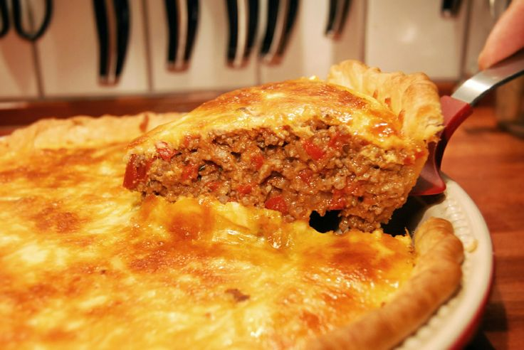 American classic----cheeseburger pie.  Yummy.