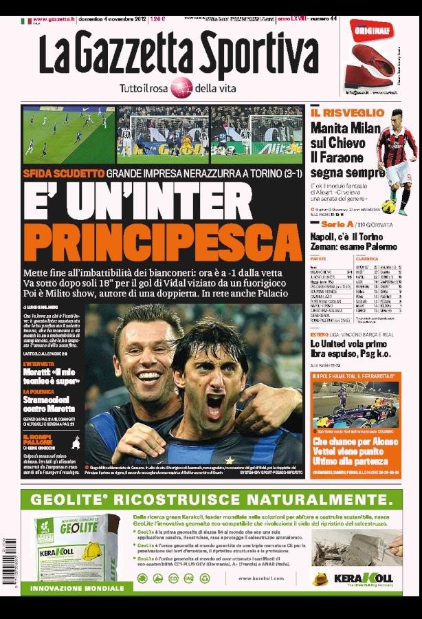 la prima pagina del 04 11 2012
