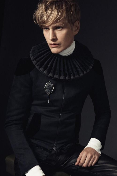 mens black neck ruff haute couture - Google Search