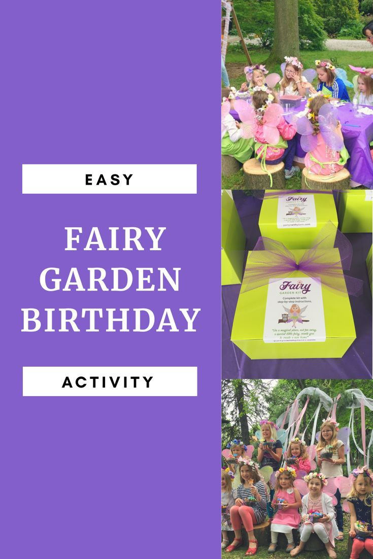 Fairy Garden Games For A Birthday Party Craft Activity Or Games