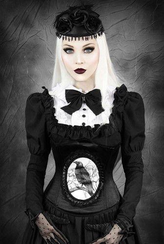 Gothic victorian Satin Korsett Unterbrustkorsett corset morbid mit Rabe schwarz in Kleidung & Accessoires, Damenmode, Damenunterwäsche | eBay!