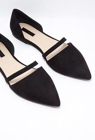 Cutout Faux Suede Flats | Forever 21 -so cute!! Must have