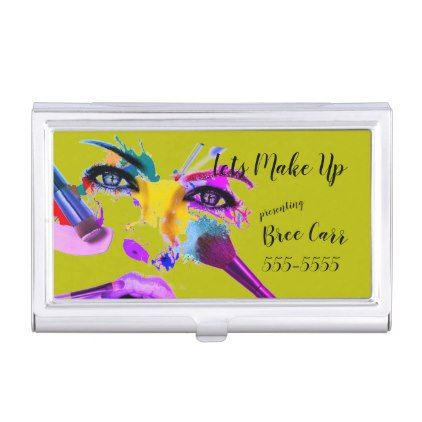 """;Lets Make Up""  All Metal Card Holder - artists unique special customize presents"