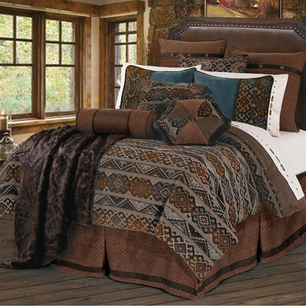 Delectably-Yours.com Rio Grande Southwestern Bedding Duvet Cover Set & Accessories