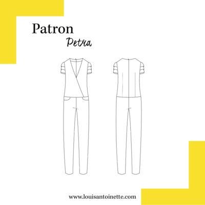 Louis Antoinette - combinaison Petra - patron pochette : 14,90€