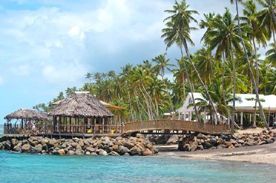 Fishing spot view at Samoa Hideaway Beach Resort #samoa