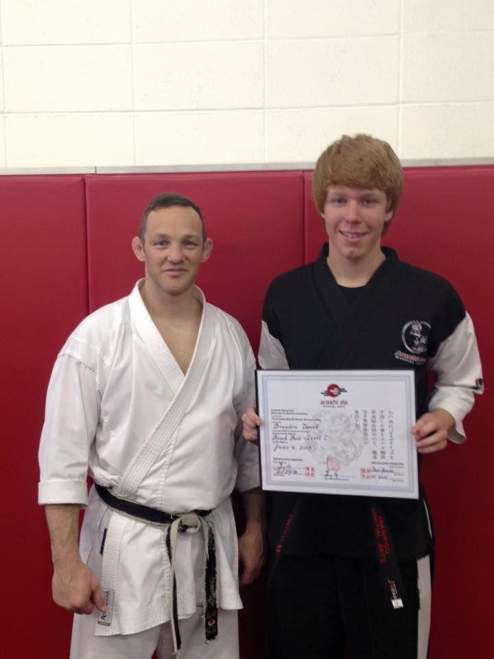 Red Deer's newest Karate Black Belt