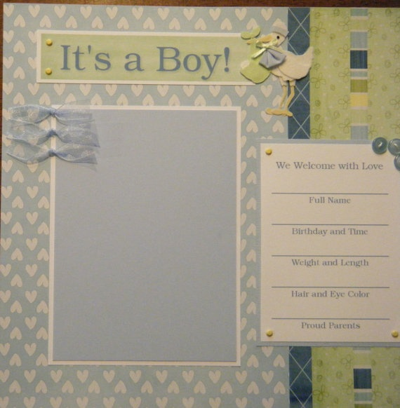 Page Layout Birthday book instead of new baby books