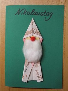 Nikolaus auf Karte                                                                                                                                                                                 Mehr (Diy Geschenke Weihnachten)