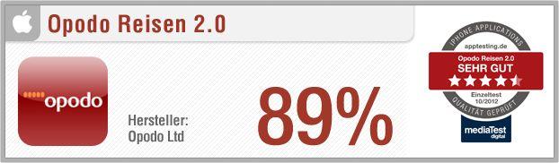 Premium-Test: Opodo Reisen // Pro: Über 50.000 verschiedene Hotels mit Bewertung, Last Minute Angebote, Flugsuche aus 750 Airlines, Pauschalangebote, Merkzettel, benutzerfreundlich, übersichtlich // http://www.apptesting.de/2012/10/premium-test-opodo-reisen/