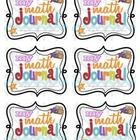 Super cute printable Math Journal Labels for cover of journals plus journal instructions for inside the front cover.  More info here... http://www....