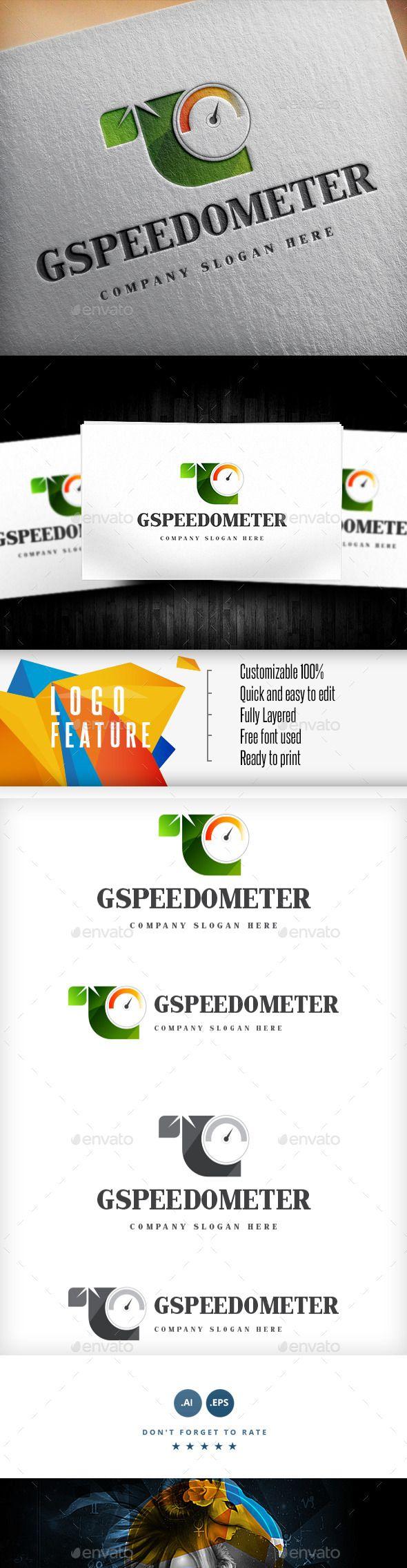 Green Speedometer Logo