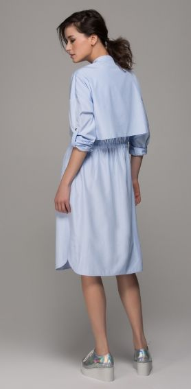 sky blue shirtdress