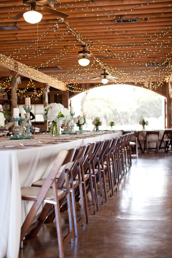 Long Wedding Tables At Barn Wedding.. love the idea of a long table!