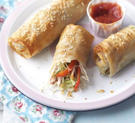 Wrap-your-own spring rolls - great recipe to try with the kids. It's healthy and they can join in the fun of cooking.