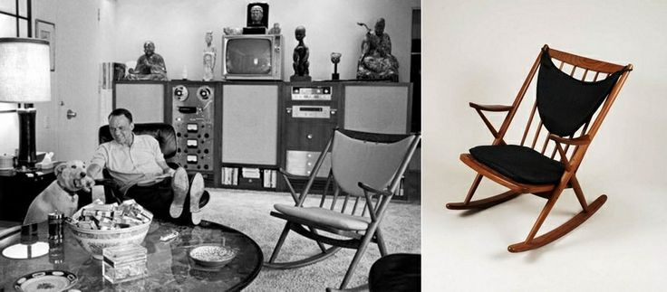 Frank Sinatra At Home In A Eames Lounge Chair And A Frank