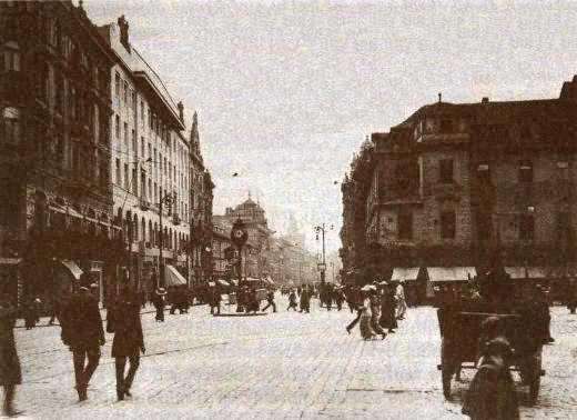 Václavské náměstí a Příkopy   cca 1900