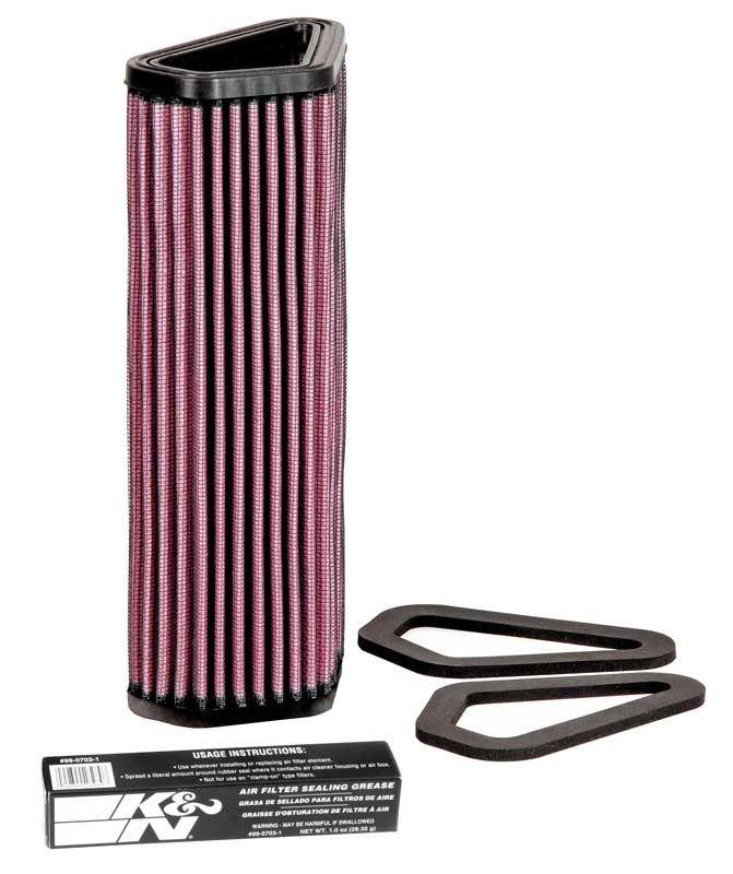 K&N DU-1007 Replacement Air Filter for 2011-16 Ducati Diavel
