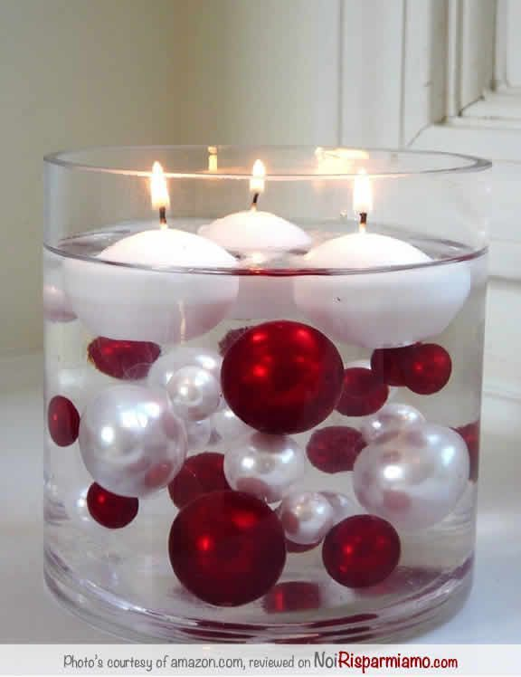 candele in acqua
