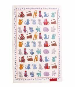 Tartan Tabbies Tea Towel Cotton tea towel, featuring exclusive Tartan Tabbies design. Machine washable. Exclusive to the National Trust for Scotland. £4.99