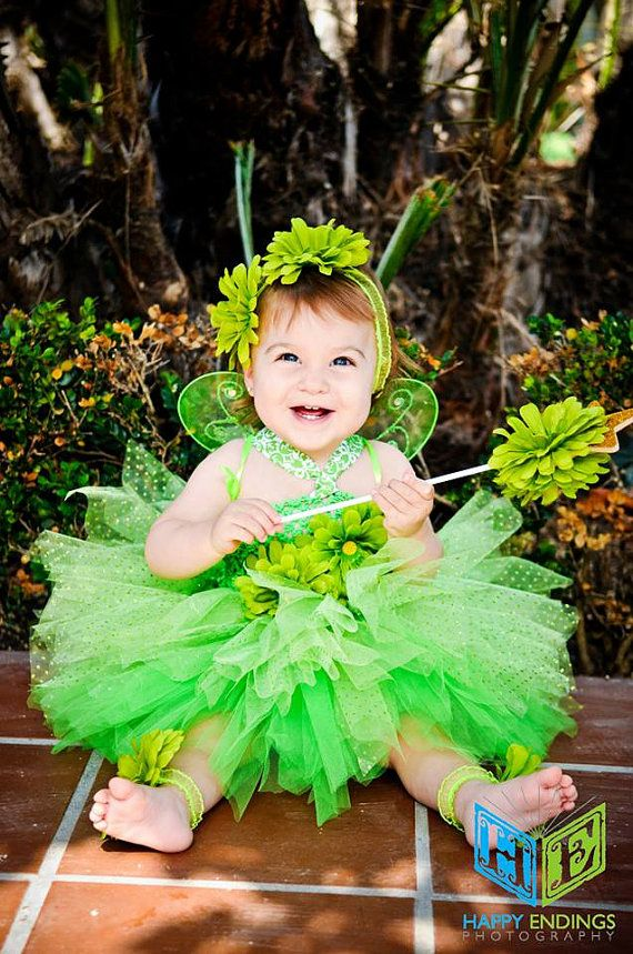Tinkerbell Costume, Tinkerbell Tutu, Fairy Tutu, Fairy Costume, Peter Pan, Tinkerbell Birthday, Outfit of Choice, Halloween Tutu Costume via Etsy