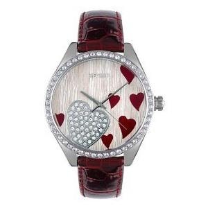 Fossil Women's Crystal Heart Watch