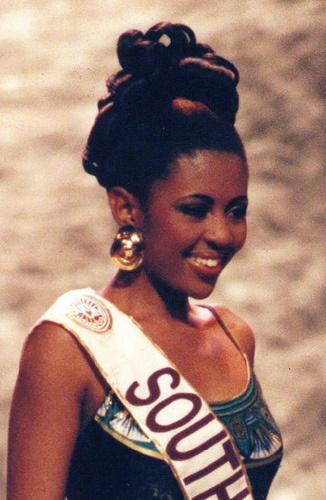 Miss SA - 1994 - Basetsana Makgalemela and first runner up at Miss World