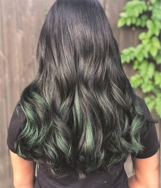 صبغة لاكمي ازرق واخضر و لاكمي ازرق وسلفر صبغة شعر لاكمي لون ازرق Lakme Hair Colors صبغة لاكمي صبغة لاكمي خضر Emerald Hair Hair Color Gray Hair Color Ombre
