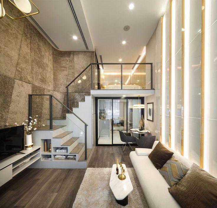 Double Height Living Modern Interior Design Double Height Living Room Modern Interior De Moderne Huisdecoratie Luxe Interieurontwerp Huisdesign