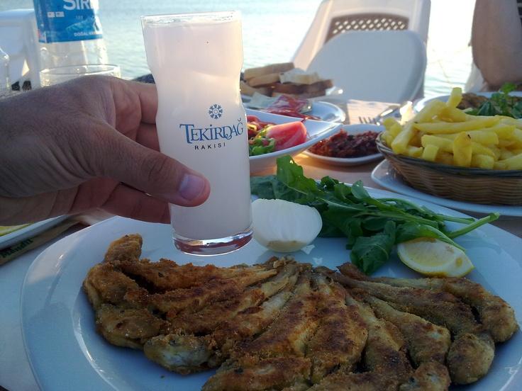 Turkish Raki, Fish, Istanbul, Seaside