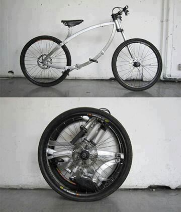 Folding Bike. compact and actually looks decent. Wish I knew where to find it.