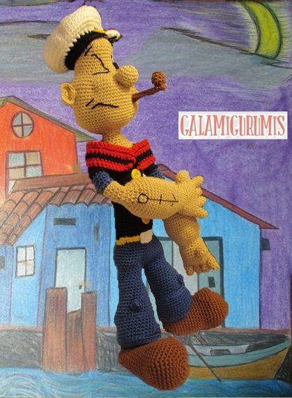 Crochet Pattern Popeye Doll : 4721 best images about Crochet Amigurumi Dolls on ...