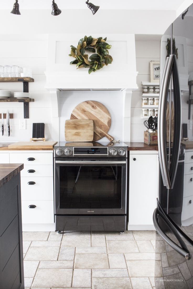 Our New Black Stainless Steel Appliances My House Modern Farmhouse Kitchens Black