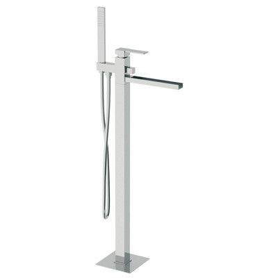 Remer by Nameek's Single Handle Floor Mounted Tub Filler with Hand Shower