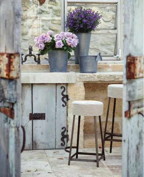 Stone and wood is my favorite...country kitchen    Providence Ltd Design -