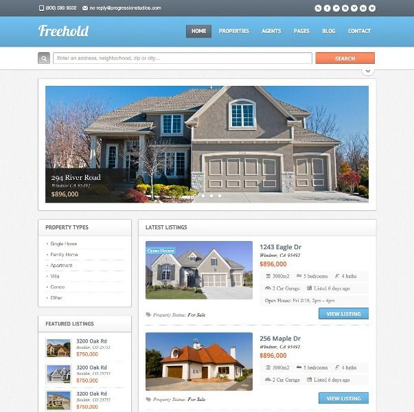 Freehold - Responsive Real Estate WordPress Theme | Xtratheme