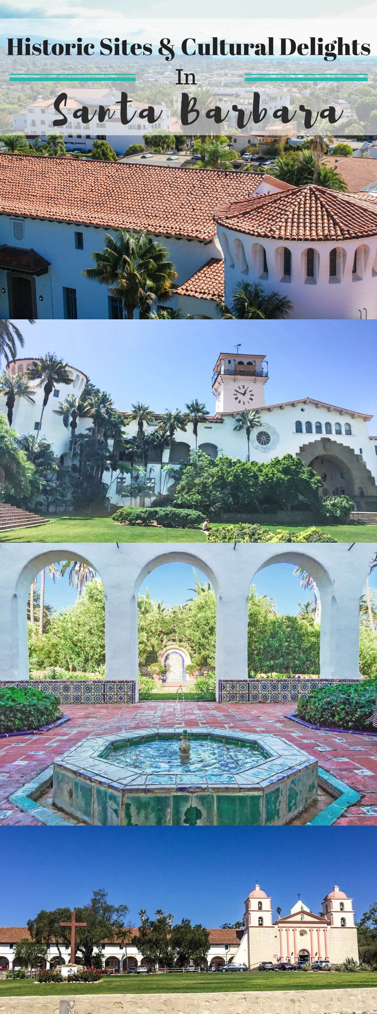 Experience historical sites and cultural delights in Santa Barbara, California -- form the mission and courthouse to Casa Del Herrero and Lotusland.