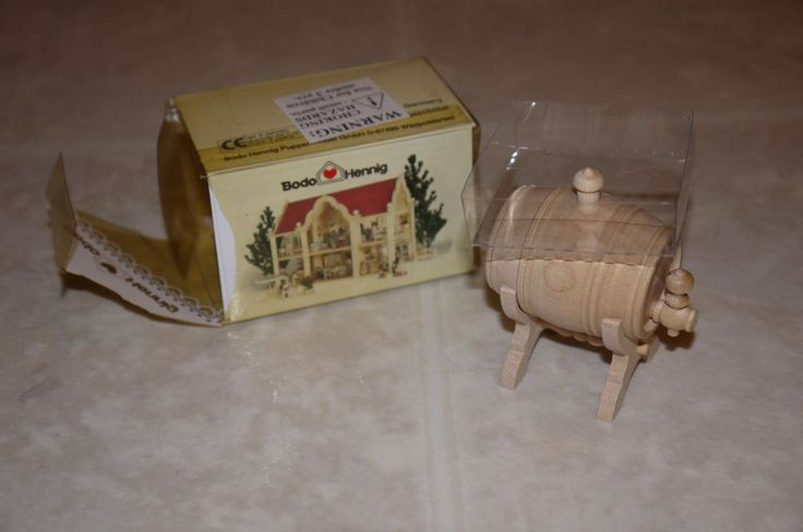 Bodo Hennig Dollhouse Doll House Miniatures Minis Barrel Wine Cask GERMANY NIB  Z
