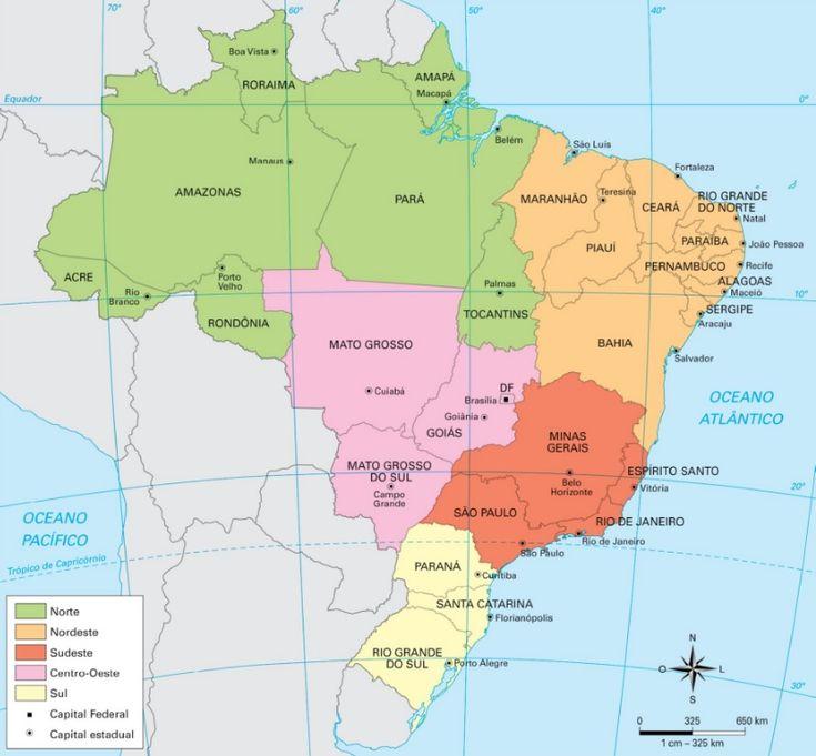 Mato Grosso do Sul - Conheça seu Estado (História e Geografia): 02 - A organização do espaço geográfico brasileiro...