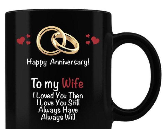 Wife Wedding Anniversary Gift Black Coffee Mug Anniversary Gift From Husband Anniv Black Coffee Mug 1st Wedding Anniversary Gift Wedding Anniversary Gifts
