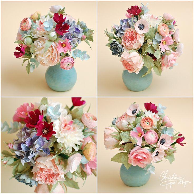 3Christine paper design - paper flowers centerpiece2