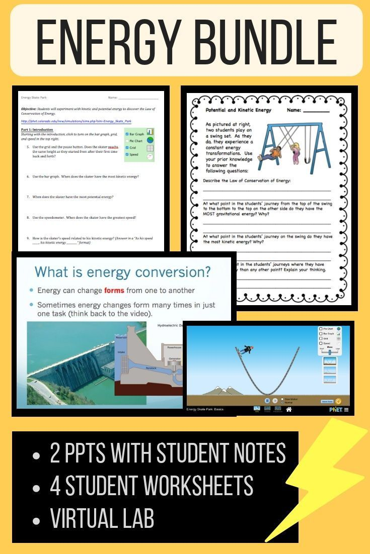 2 Separate Power Points Covering Energy Forms And Energy Transformations 2 Student Energy Transformations Middle School Science Resources High School Science