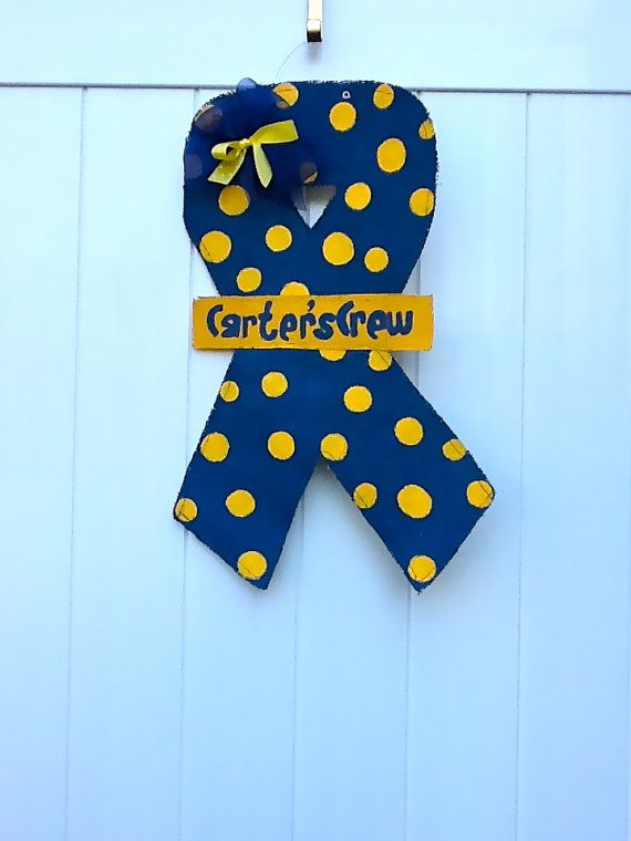 Down Syndrome Awareness Burlap Ribbon Door Hanger by SweetPeaHoney, $40.00