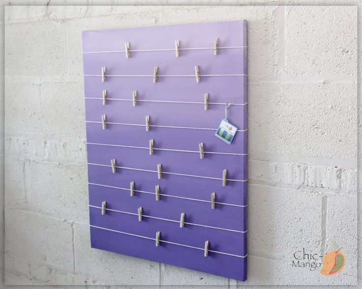 bulletin board memo holder purple ombre kids room decor teens room decor