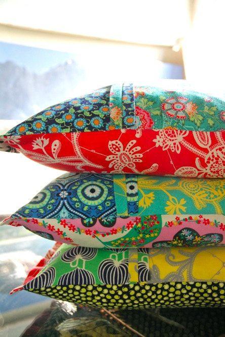 Amy Butler Lark Fabric / Souvenir in Persimmon / LARK 9 (by mimis/etsy)