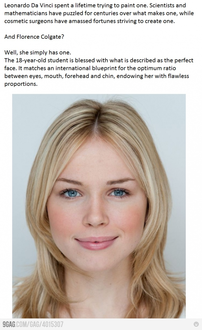 The Perfect Face ... Features, Blonde Hair, Blue Eyes