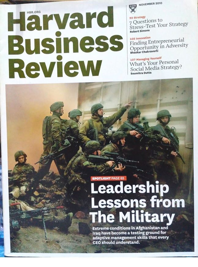Leadership Lessons from The Military, is the main subject of HBR on this periode.
