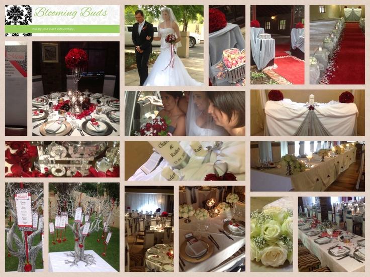 WEDDING : white, silver, wine red.