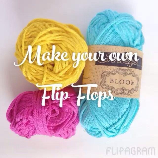 Bloom Flip Flops Free Pattern | MissNeriss