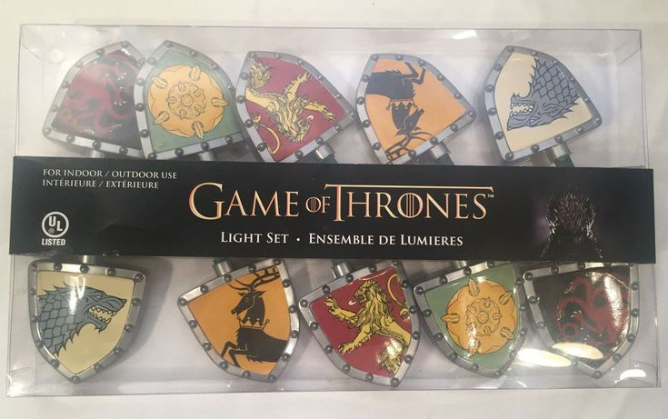 Game of Thrones HBO Indoor & Outdoor Light Set Stark Targaryn Tyrell Lannister